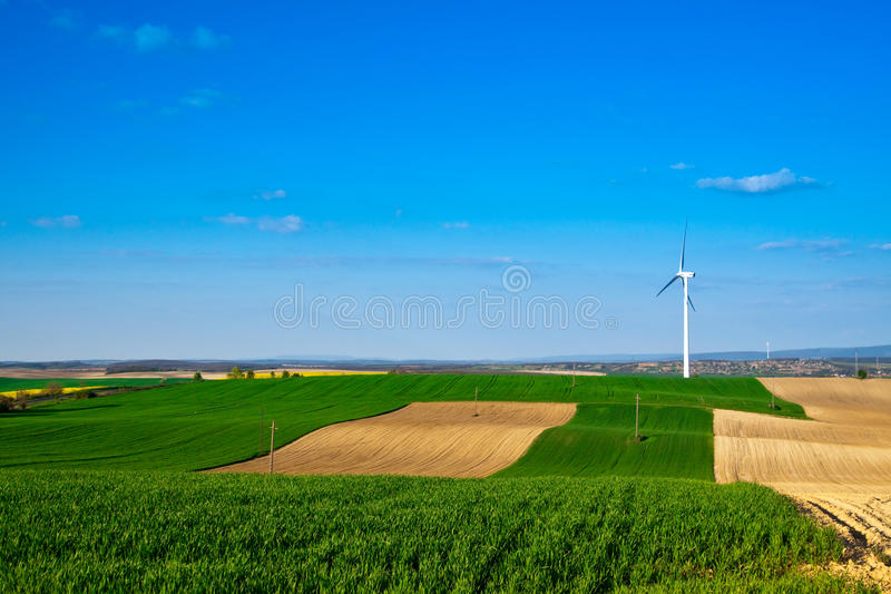 Download Wind energy turbine stock image. Image of farm, dioxide - 17908471