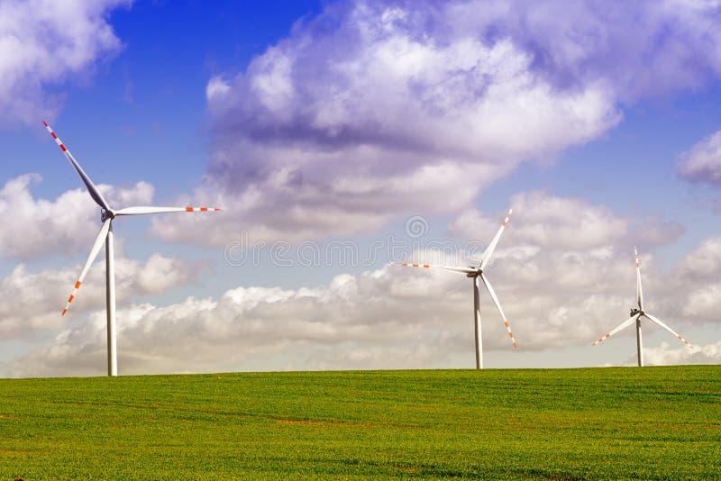 Wind energy stock photo