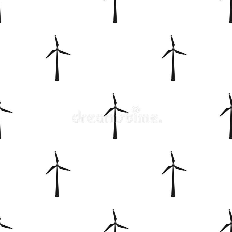 Wind Energy Turbine Icon In Black Style Isolated On White Background ...