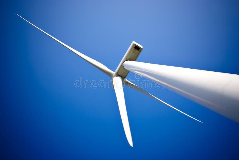 Wind energy turbine power station stock photo