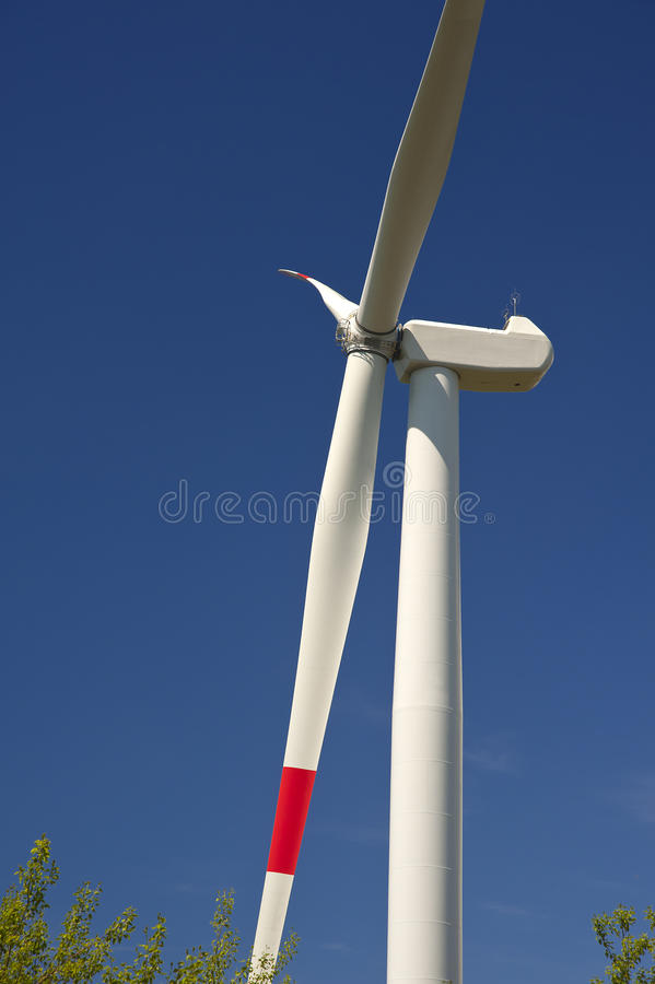 Download Wind energy,white turbine stock image. Image of rotate - 25604203
