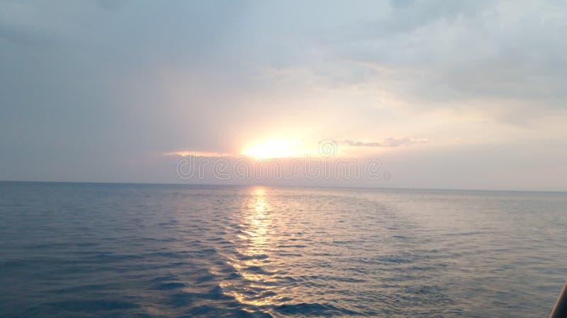 wind för abstraktionstormsolnedgång fotografering för bildbyråer