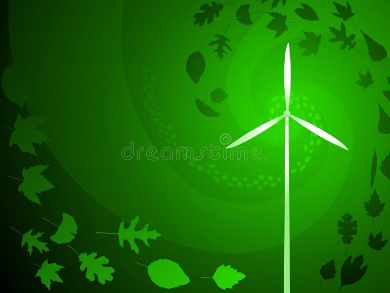 wind för grön ström royaltyfri illustrationer
