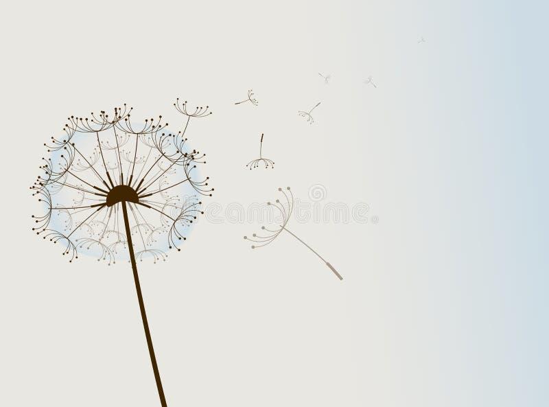 wind för konstblommavektor vektor illustrationer