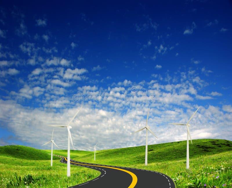 wind för strömstation royaltyfri foto