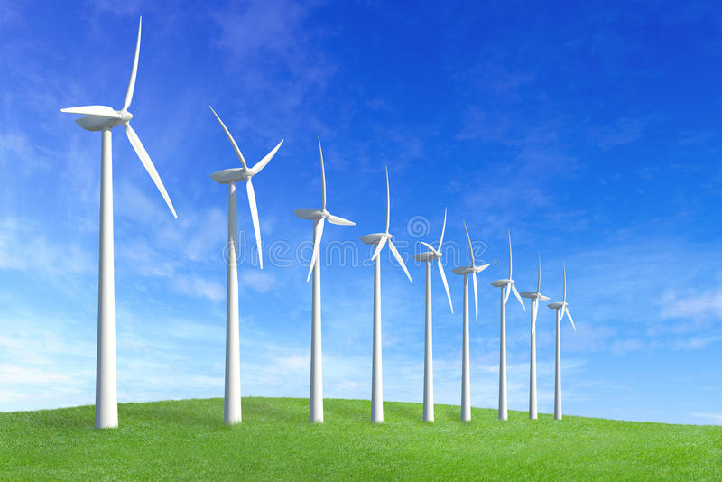 Wind farm royalty free illustration