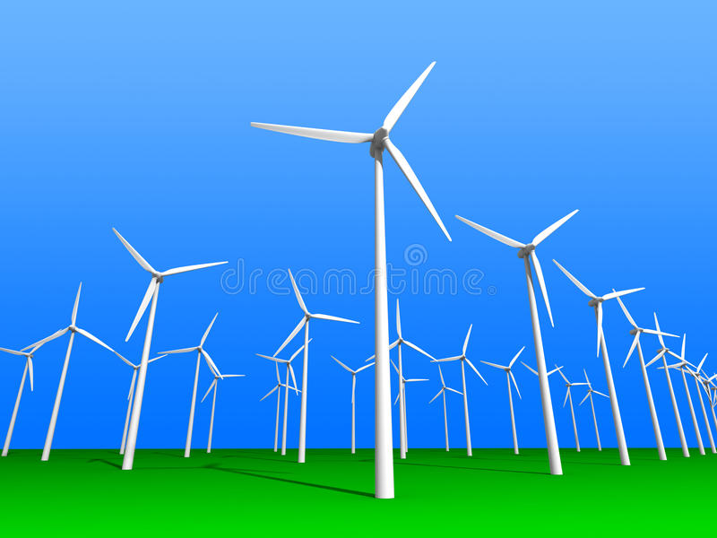 Download Wind farm stock illustration. Image of renewable, electric - 11620071