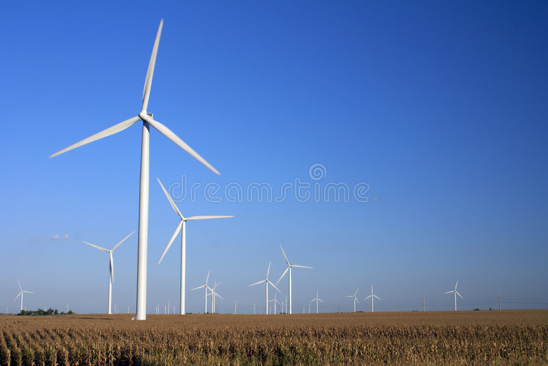 Download Wind Farm stock photo. Image of environment, illinois - 3258884