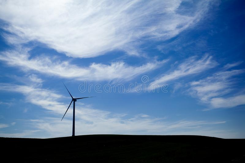 Download Wind Farm with blue sky stock image. Image of efficiency - 18339231