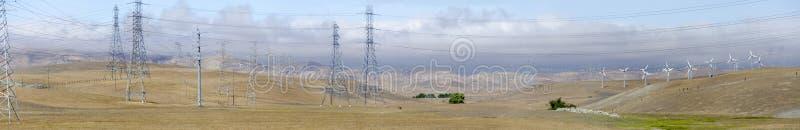 Wind farm in California stock photography