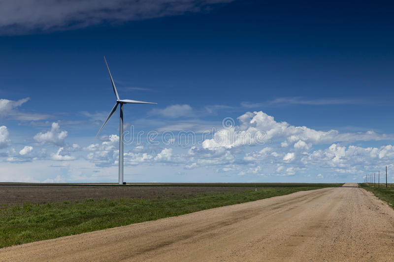 Wind Farm and Country Road royalty free stock images