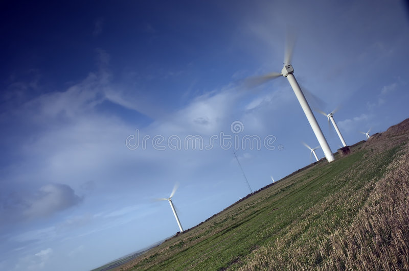Download Wind farm in countryside stock photo. Image of scenery - 1723762