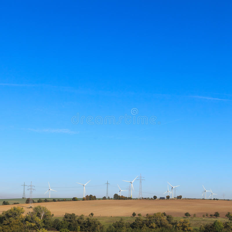 Download Wind farm in countryside stock image. Image of group - 21659293