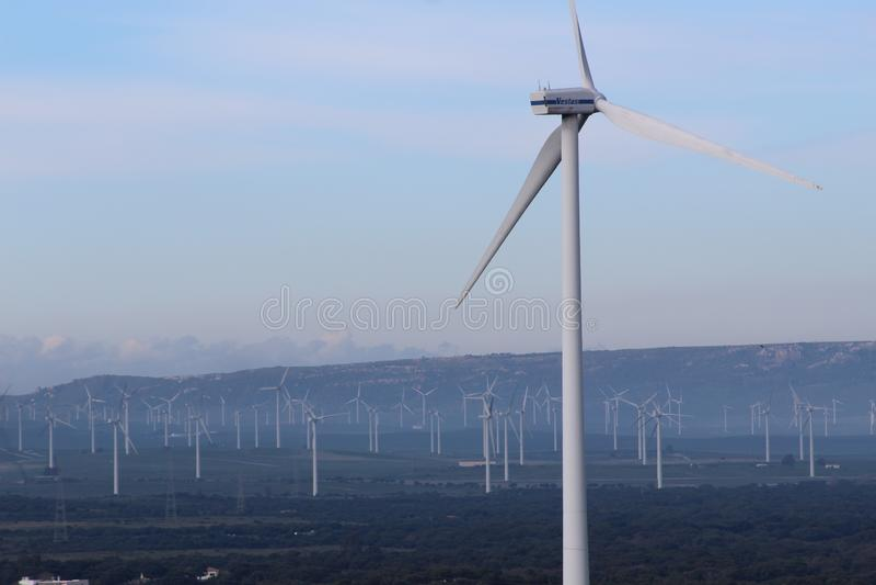 Wind farm Fascinas, Andalusia, Spain stock photo