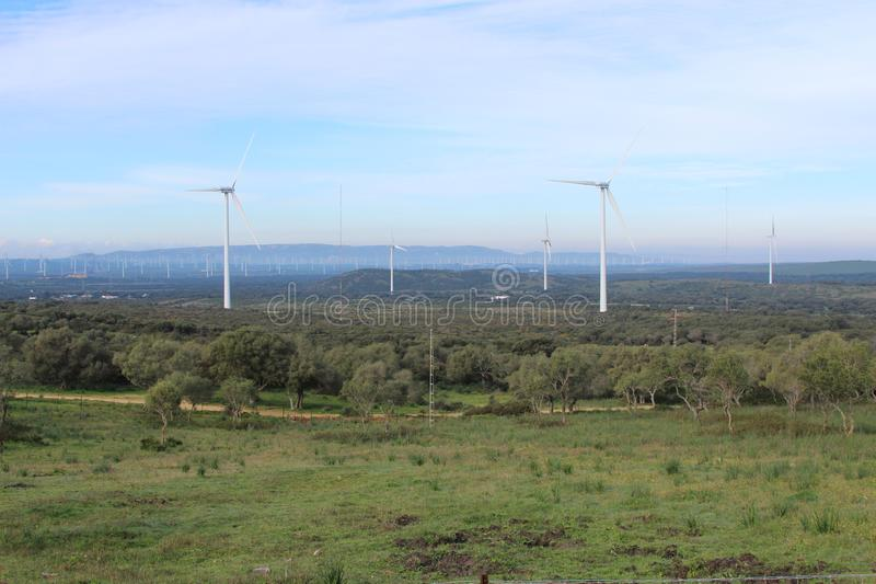 Wind farm Fascinas, Andalusia, Spain royalty free stock image