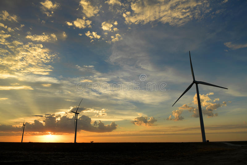 Wind Farm in Kansas stock images