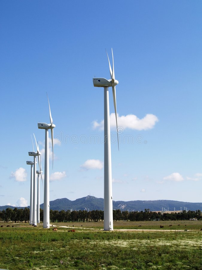 Wind Farm Landscape Royalty Free Stock Images