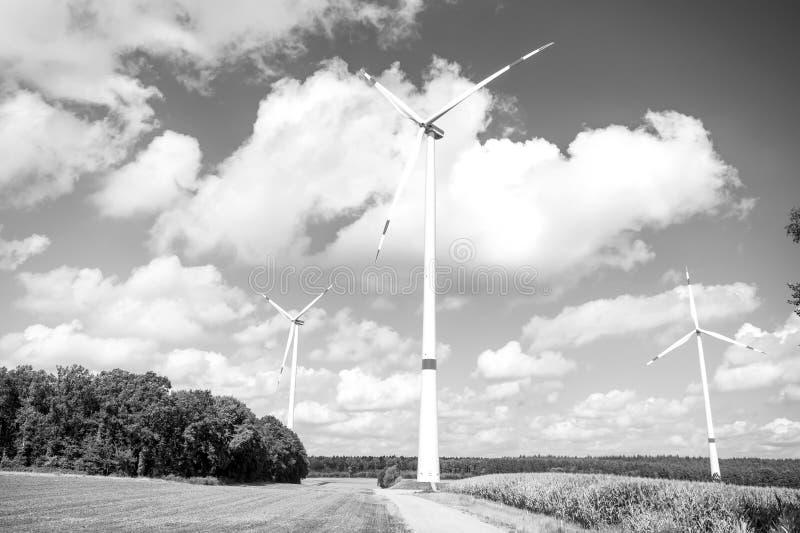 Wind farm in Lower Saxony, Germany stock photos