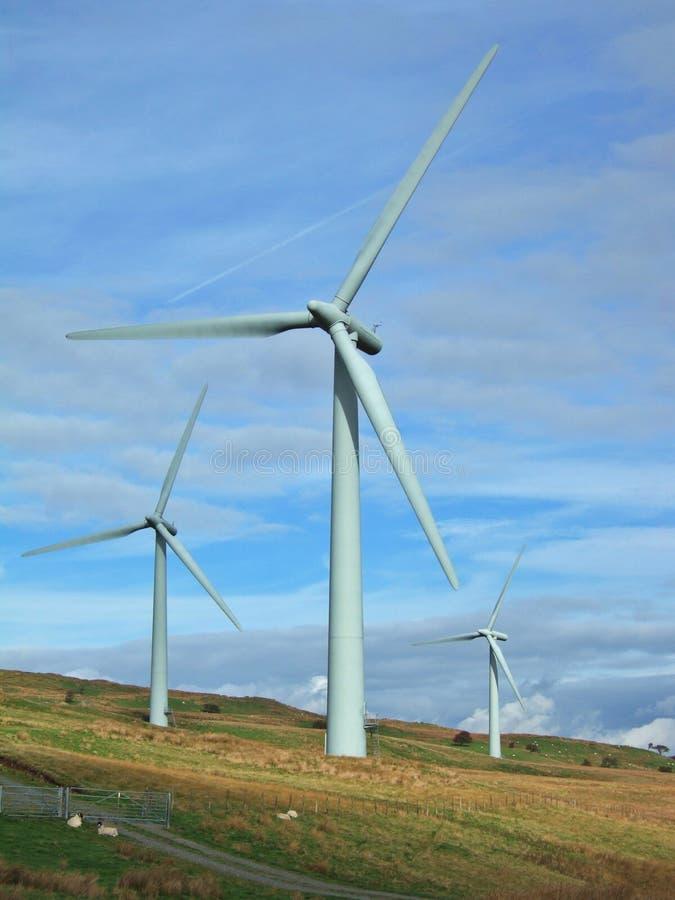 Wind farm near Kendal stock photography