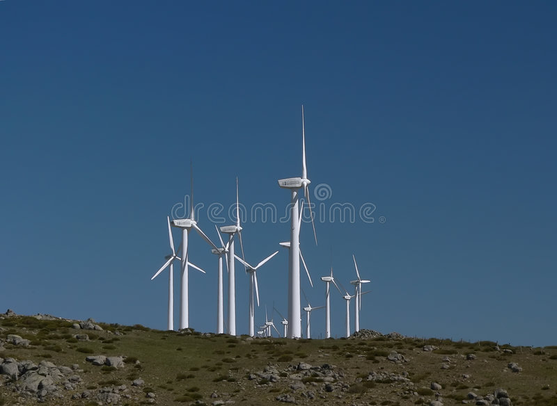 Wind farm in Spain 3 royalty free stock image