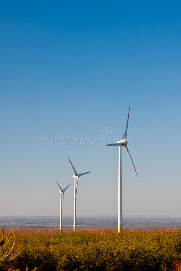 Wind Farm Turbines, Ecology royalty free stock photography