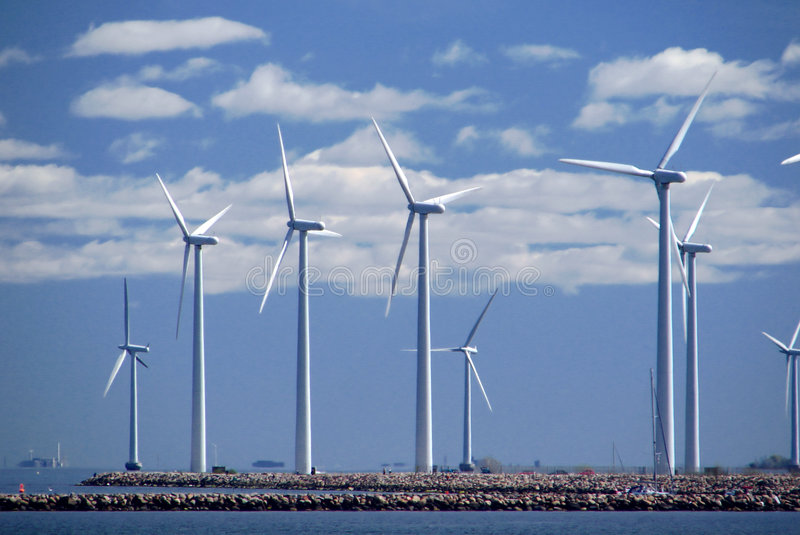 Download Wind farm w6 stock photo. Image of blades, green, dock - 2686972