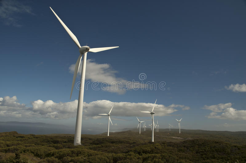 Wind Farms. Taken in Albany, Western Australia stock image