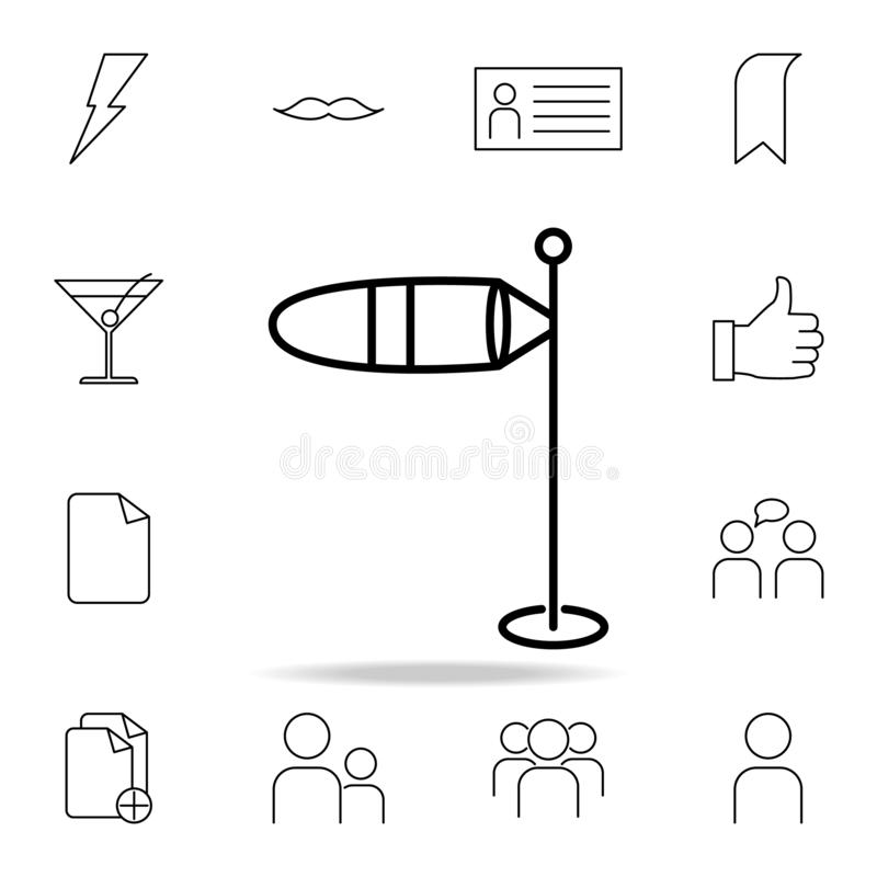 Wind gauge icon. Detailed set of simple icons. Premium graphic design. One of the collection icons for websites, web design,. Mobile app on white background vector illustration