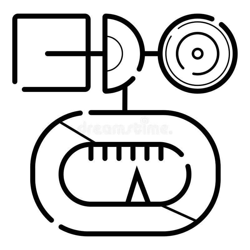Wind gauge icon vector illustration. Photo stock illustration