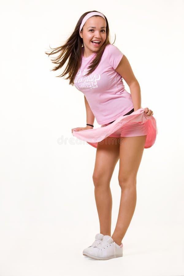 Wind geblazen rok royalty-vrije stock afbeelding