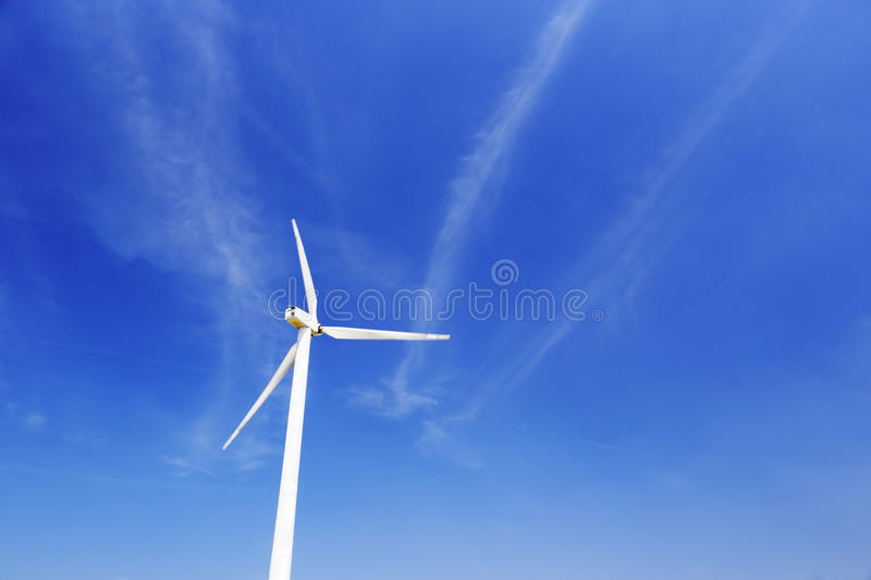 Wind generator. Under blue sky stock photo