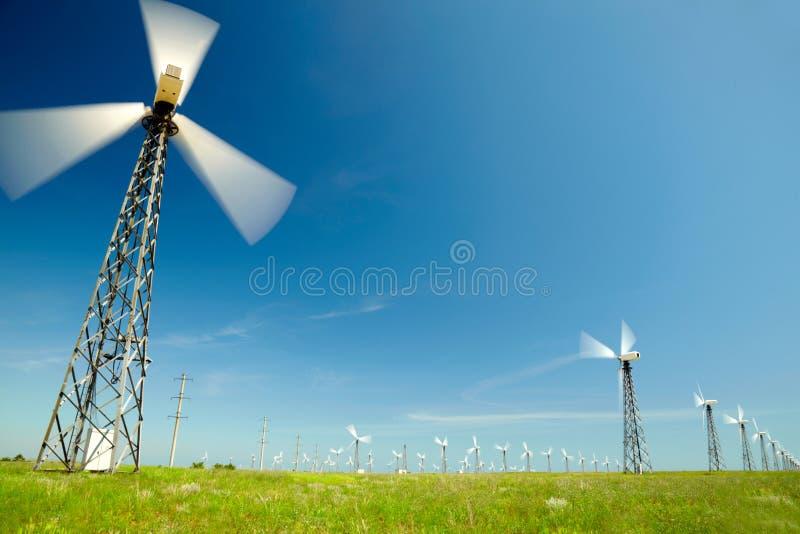 Wind-Generatoren stockbilder