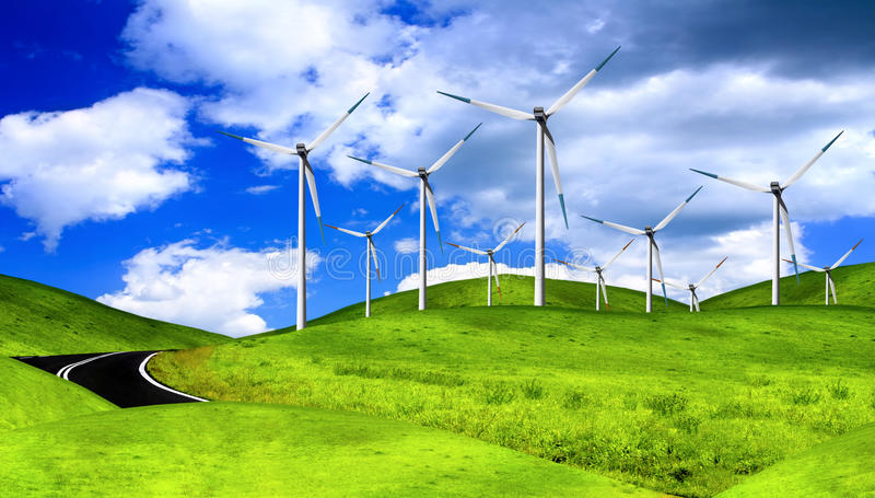 Download Wind generators stock image. Image of free, modern, fuel - 12289503