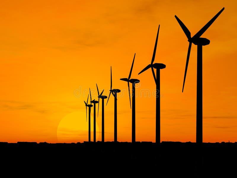 Wind generators royalty free stock images