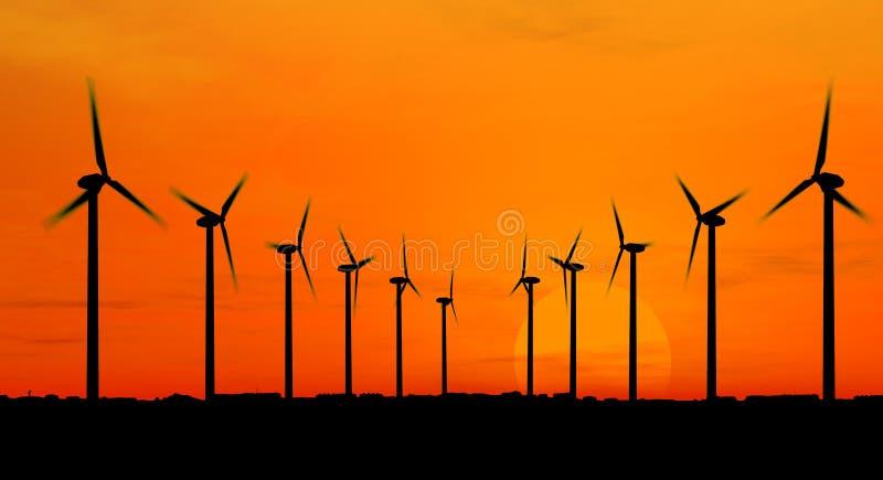 Wind generators stock image