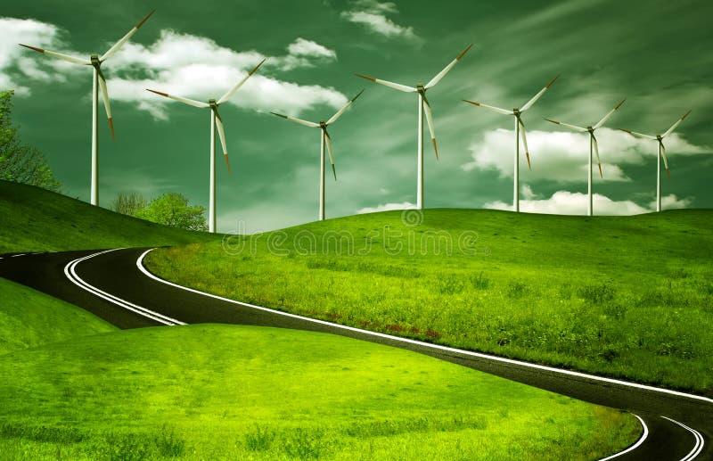 Wind generators, ecology stock photo