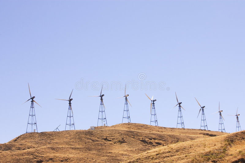 Wind generators farm royalty free stock image