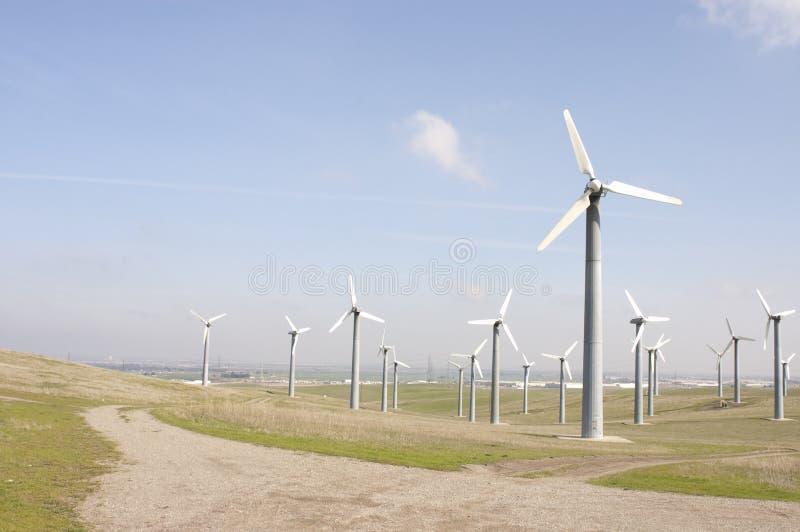 Wind generators farm royalty free stock images
