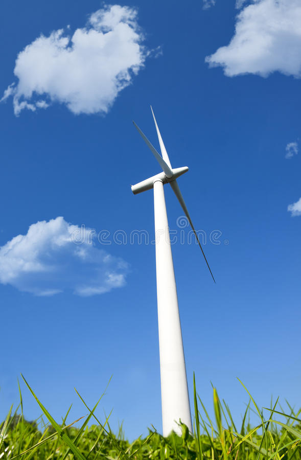 Wind green energy. Natural energy windpower for a clean environment stock photography