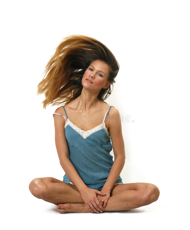 Wind in hair royalty free stock image