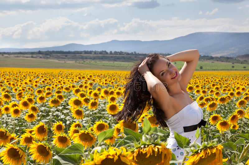 Download Wind in her hair stock photo. Image of happy, beauty - 24697946