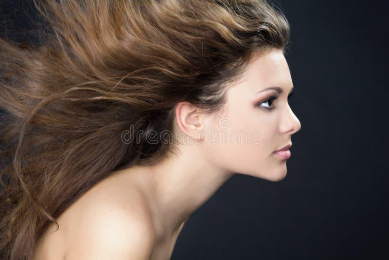 Wind in het haar royalty-vrije stock afbeelding