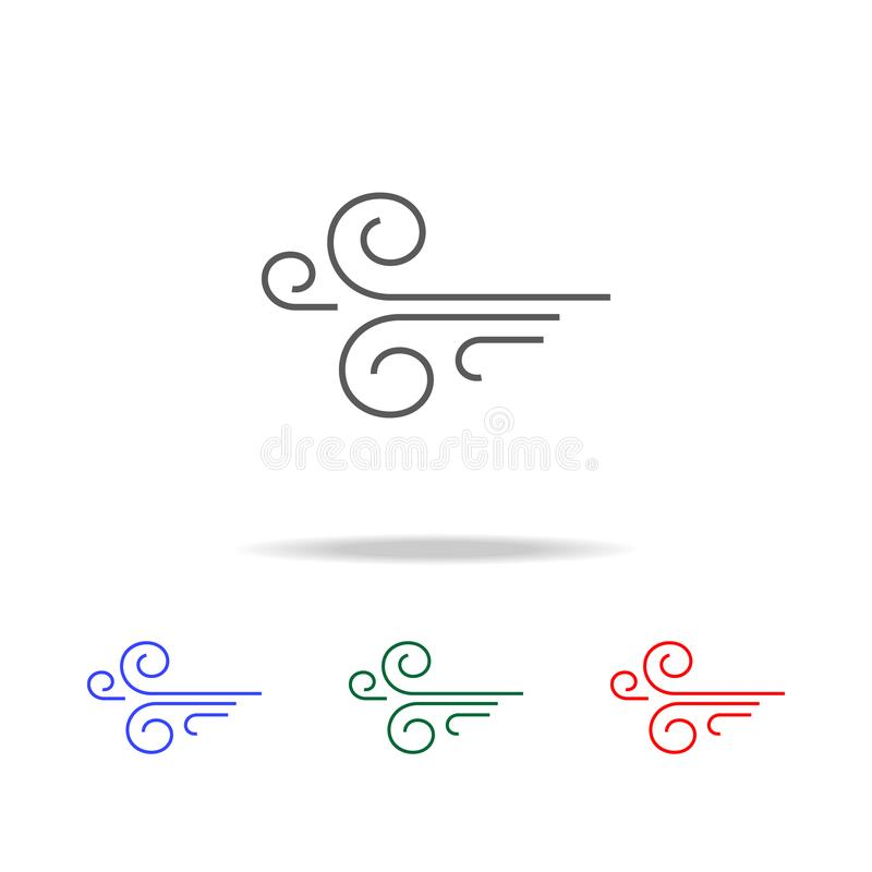 Wind icon. Elements of weather in multi colored icons. Premium quality graphic design icon. Simple icon for websites, web design, royalty free illustration