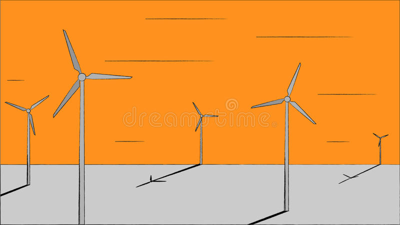 Wind illustration stock photography