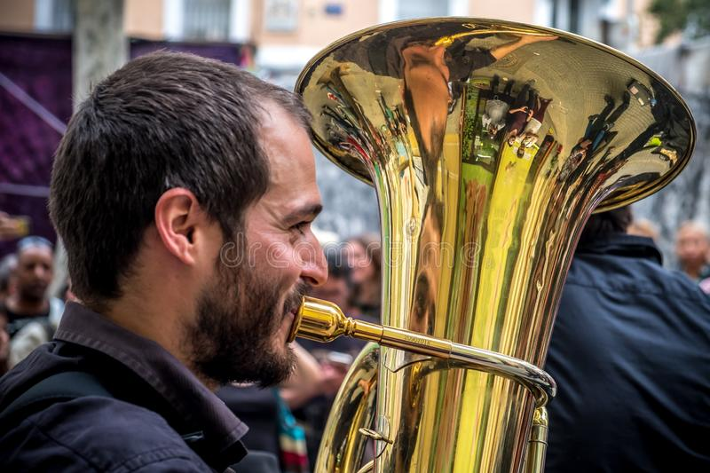 Wind Instrument, Brass Instrument, Tuba, Musical Instrument royalty free stock image