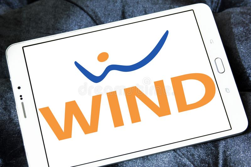WIND Italien-Telekommunikationsfirmalogo stockbilder
