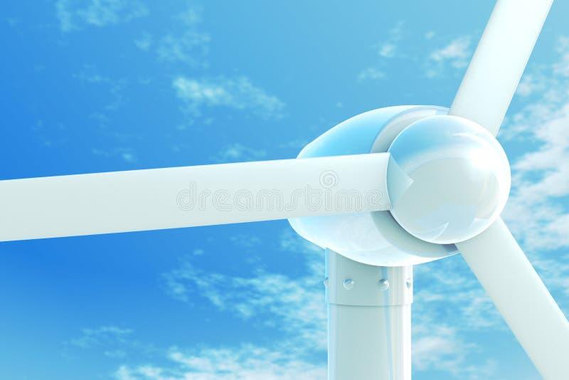 Wind-Leistung lizenzfreie abbildung