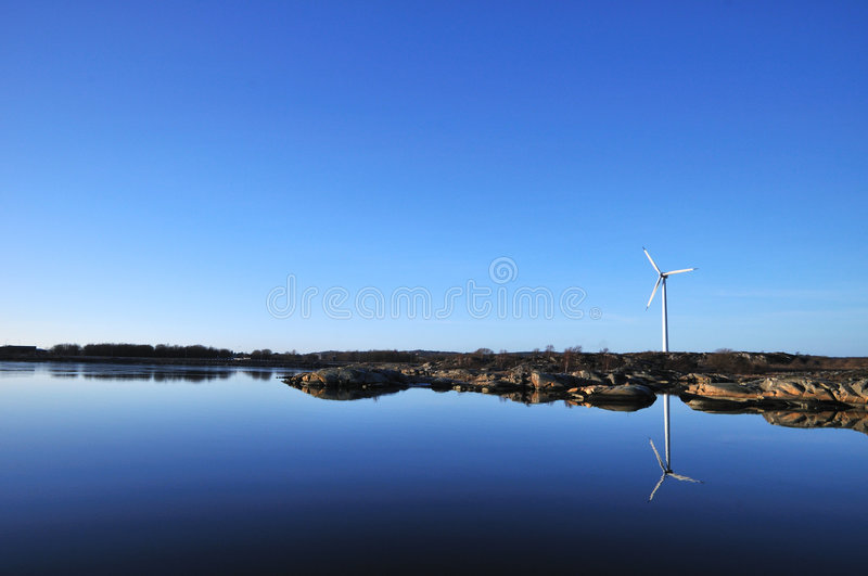 Wind meets water stock photography