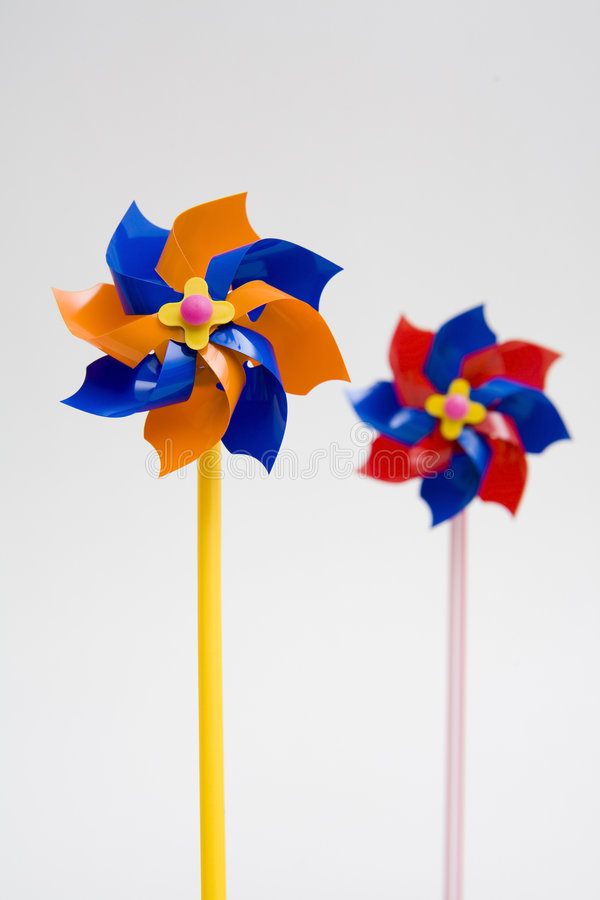 Wind mill. Toy for power and play royalty free stock photography