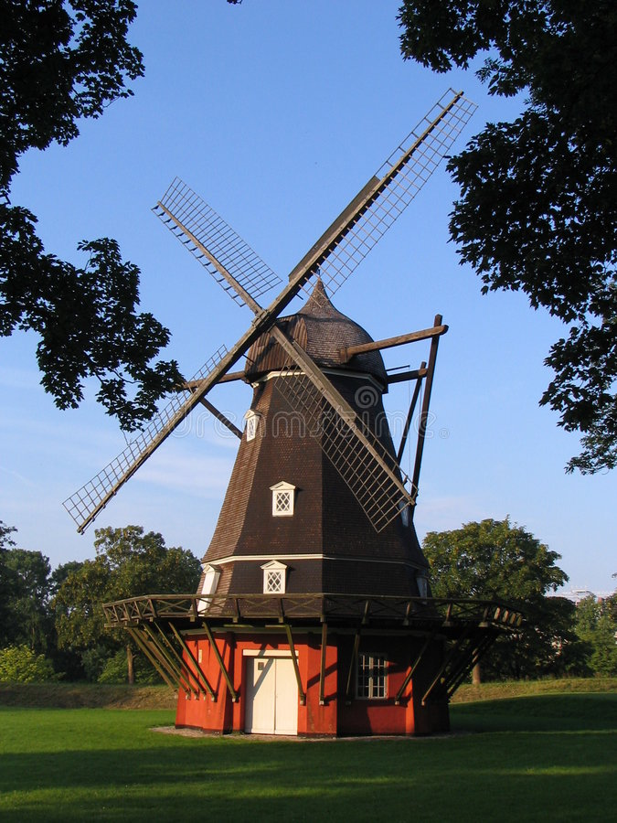 Wind mill in Danmark royalty free stock photos